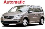 VW Touran or VW Caddy a/c 7 passenger automatic minivan. Crete